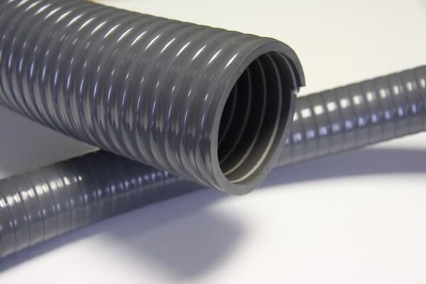 Одна из разновидностей гибких гофрированных пластиковых воздуховодов ПВХ