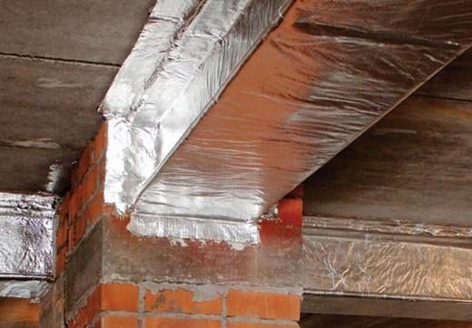 Огнезащитный обверточный материал для защиты воздуходов