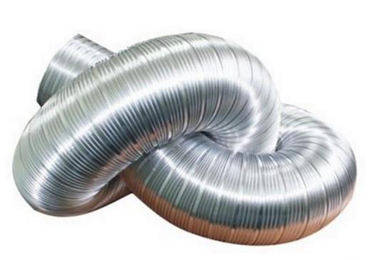 На картинке - гофрированный воздуховод для вентиляции