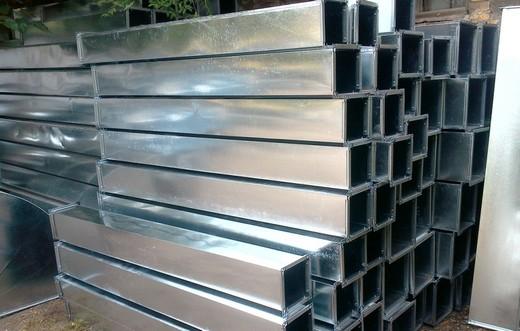 Типовой воздуховод из оцинковки квадратного сечения