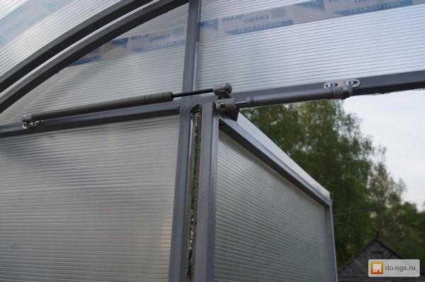 Один из способов организации автоматической вентиляционной системы теплицы из поликарбоната