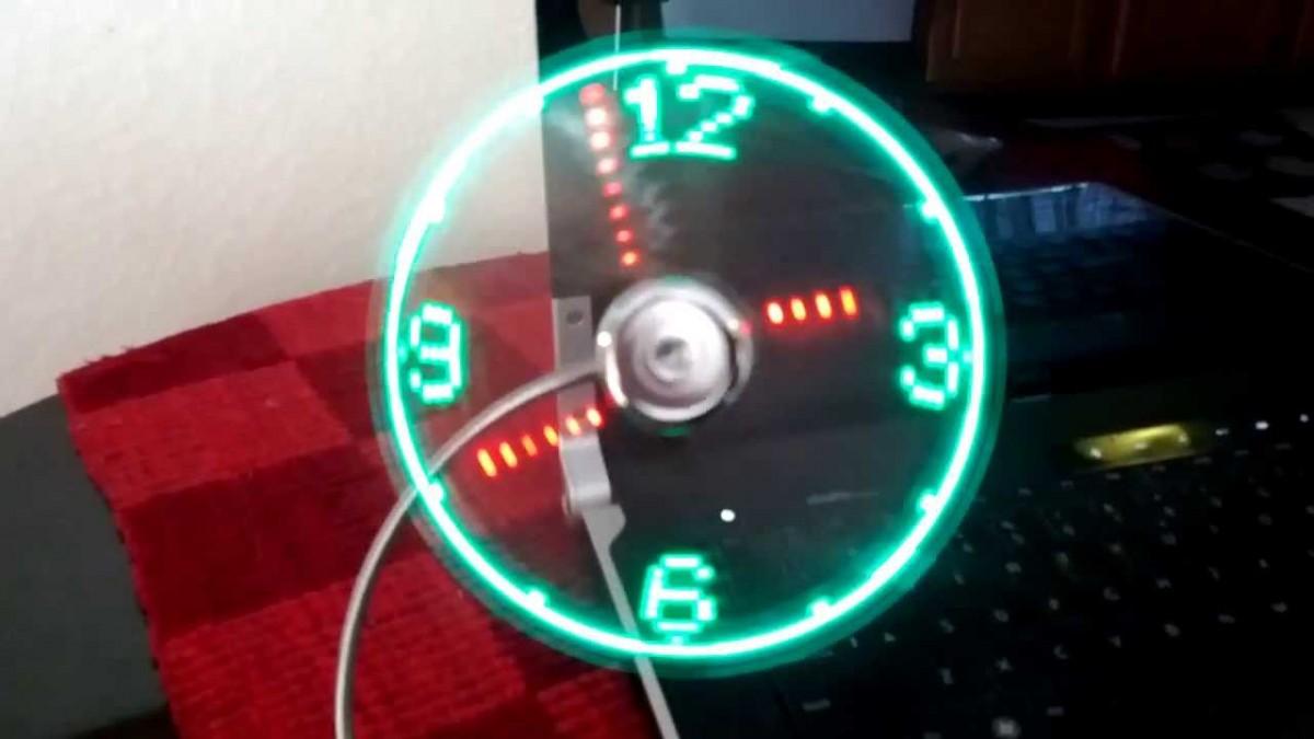 USB Fan LED Clock