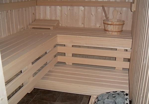 Парилка русской бани с вентиляцией по полу