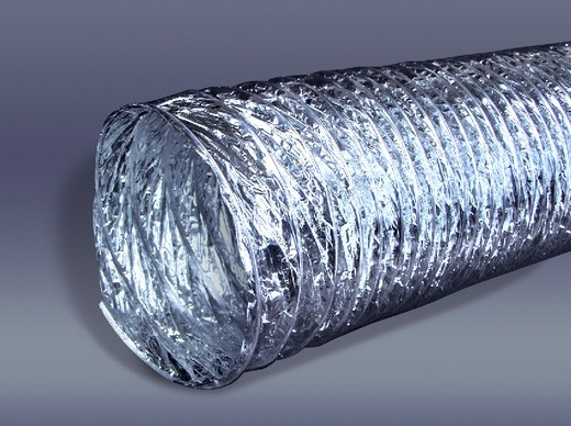 Гибкий неизолированныей алюминиевый воздуховод