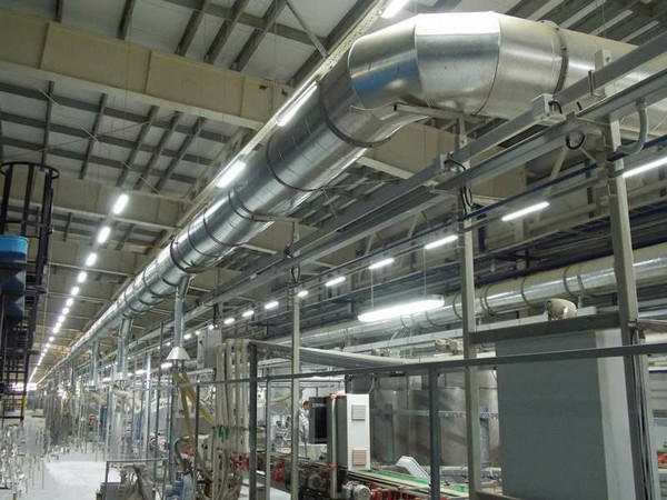 Система аспирации с применением гибких воздуховодов