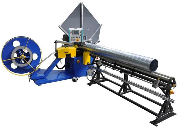 Полуавтоматический станок для производства воздуховодов