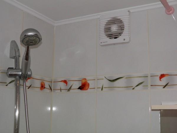 Вытяжная вентиляции в ванной комнате