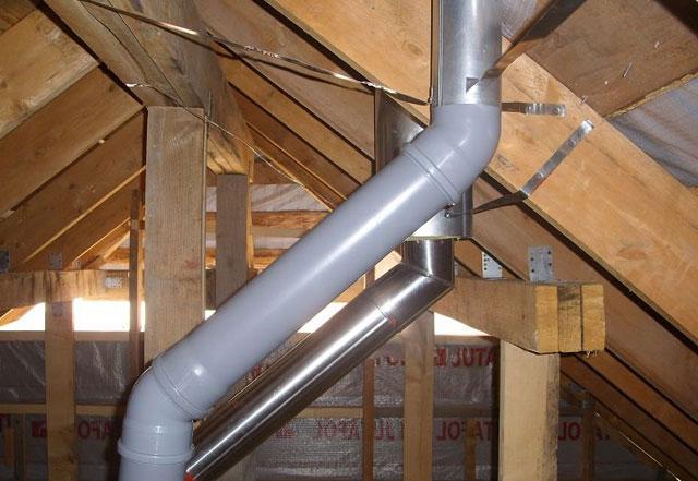 Вентиляция в частном доме из пластиковых канализационных труб