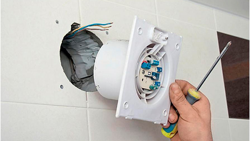 Схема подключения вытяжного вентилятора