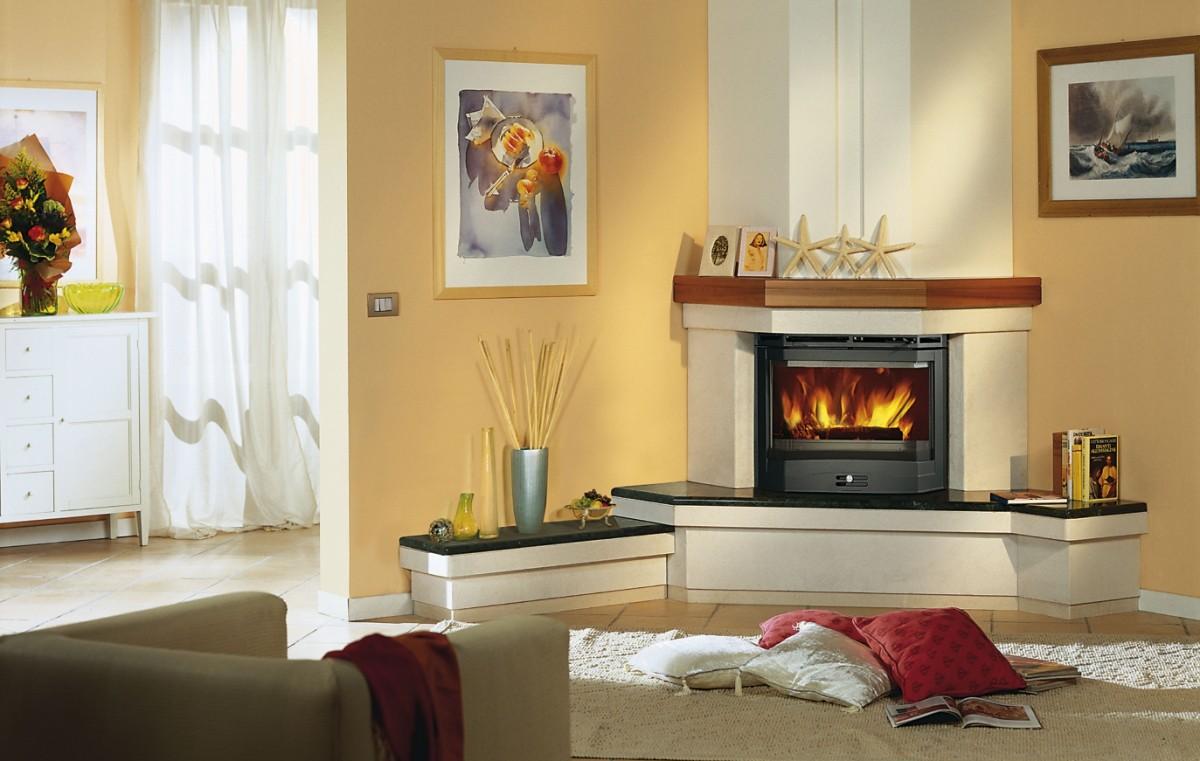 Угловые электрические камины для квартиры и дома
